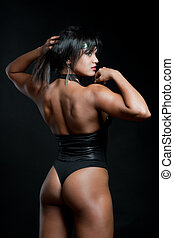 muscular, mujer fuerte