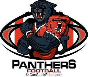 panthers football - muscular panthers football player team...