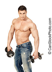 muscular person