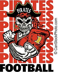 muscular pirate football player design