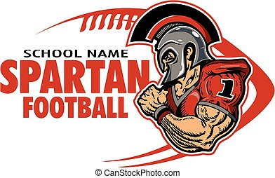 spartan football - muscular spartan football player team...