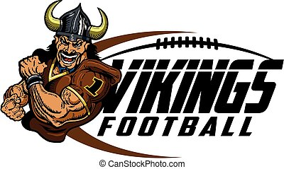 muscular vikings football player design for school, college or league