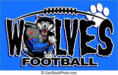 wolves football - muscular wolves football player team ...