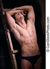 Muscular young man