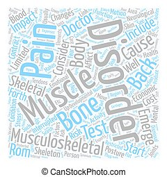 Musculoskeletal Disorders and Back Pain text background...