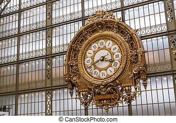 musee d'orsay, 鐘, (orsay, museum), 在, 巴黎
