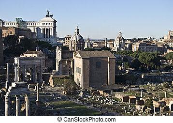 Forum Romanum - Musei Capitolini and the Monumento Vittorio...