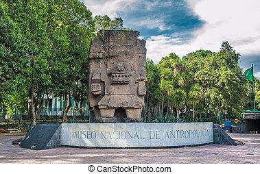 museo, méxico, entrada, antropología, ciudad, nacional
