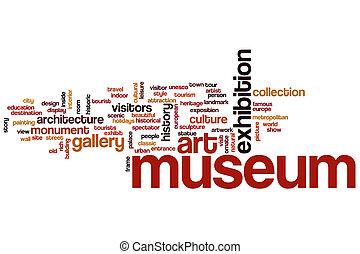 museo, parola, nuvola