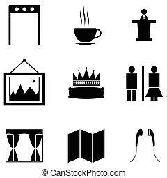 museu, ícone, jogo