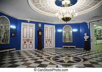 museu, corredor
