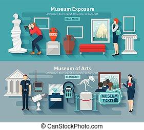 museu, jogo, bandeira