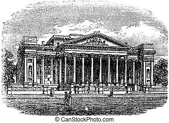 museu, reino, fitzwilliam, unidas, cambridge, engraving., ...