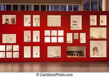 museum anzeige, überreste