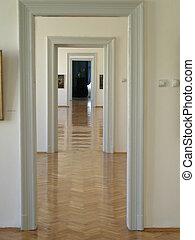 museum corridor
