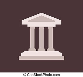 museum icon on white background