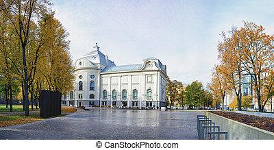 Museum in the city park of Riga