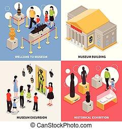 Museum Isometric Design Concept