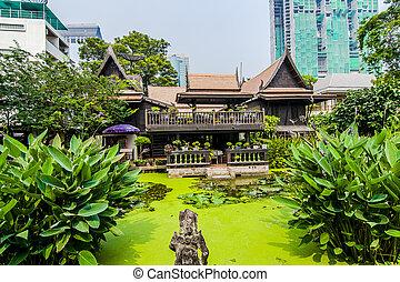 museum, kukrit's, erbe, heim, bangkok