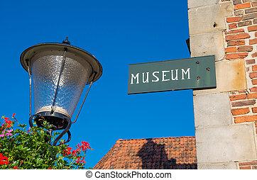 museum, meldingsbord