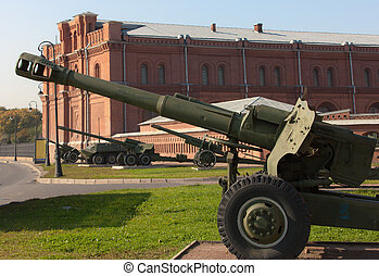 Museum of Artillery in Sankt-Peterburg - cannon in front of ...