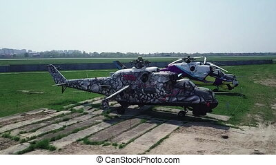 Museum of Aviation in Kyiv, Ukraine. Helicopter. - Museum of...