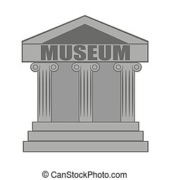 museum, pictogram