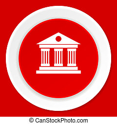 museum red flat design modern web icon