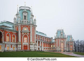 museum-reserve, történelmi, tsaritsyno, moszkva, állam, ...