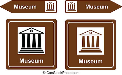 Museum sign vector illustration