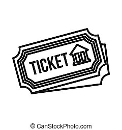 Museum ticket icon, outline style - Museum ticket icon in...