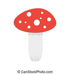 Mushroom Amanita. Vector illustration.