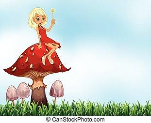 Mushroom and fairy