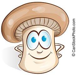 mushroom cartoon isolated on white