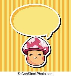 mushroom cartoon theme elements vector, eps