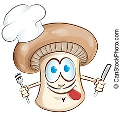 mushroom chef cartoon