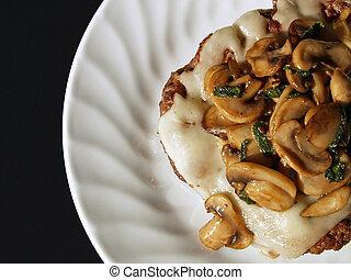 mushroom chopped steak - chopped steak with cheese and ...