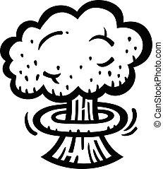 Mushroom Cloud Atomic Nuclear Bomb