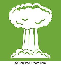 Mushroom cloud icon green