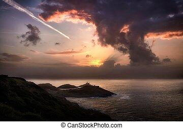 Mushroom cloud sunrise