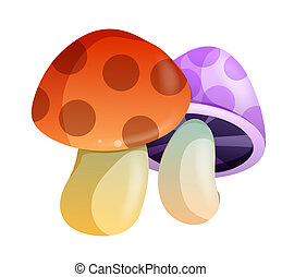 mushroom - two color mushroom with spots on the white...