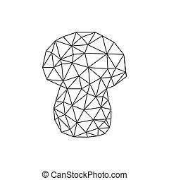 mushroom.., faire, comment, étape, origami, instructions