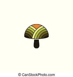 mushroom farm vector illustration