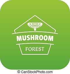 Mushroom forest icon green vector
