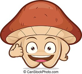 Mushroom giving thumbs up