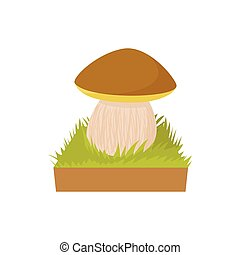 Mushroom icon, cartoon style