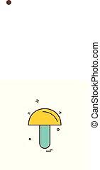 Mushroom icon design vector