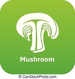 Mushroom icon green vector