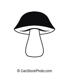 Mushroom icon in simple style