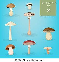 Mushroom illustration set